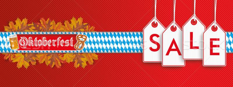 Oktoberfest Hanging Price Stickers Sale Header SH Stock photo © limbi007
