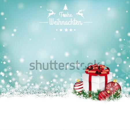 Сток-фото: снега · баннер · красный · Рождества · охватывать