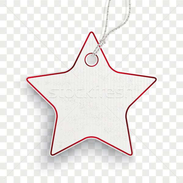 Karton csillag ár matrica átlátszó karton Stock fotó © limbi007