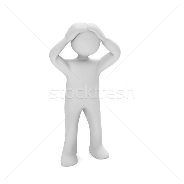 Désespérée blanche 3d illustration femme aider Photo stock © limbi007