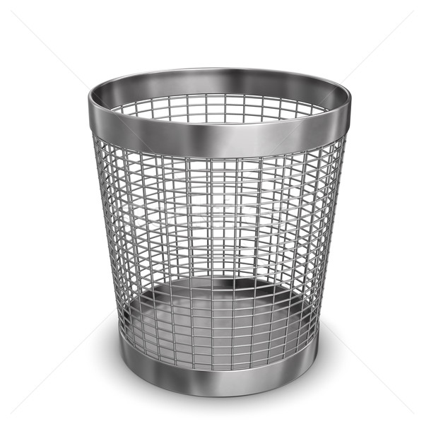 Steel Wastebasket Stock photo © limbi007