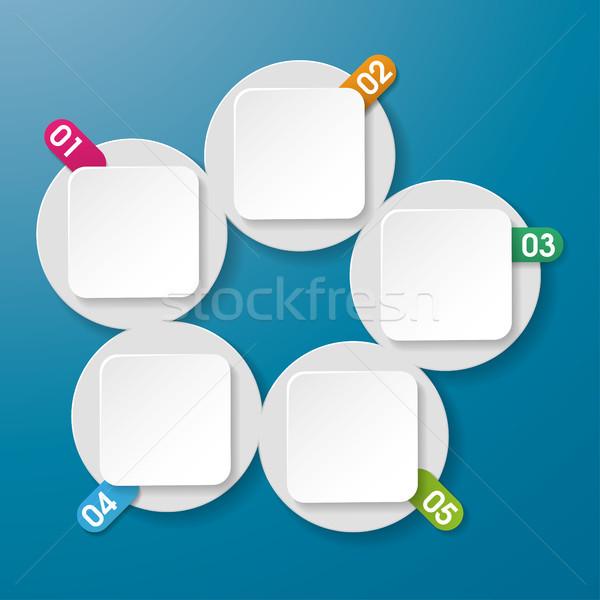 5 情報をもっと見る ラベル 番号 サークル 長方形 ストックフォト © limbi007