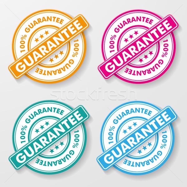 100 Percent Guarantee Paper Labels Stock photo © limbi007