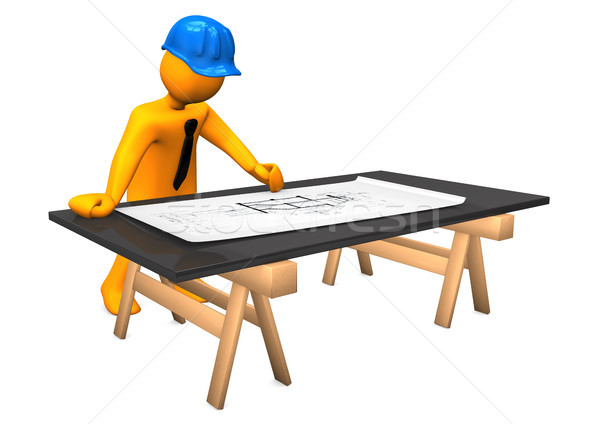Architect Construction Plan Stock photo © limbi007