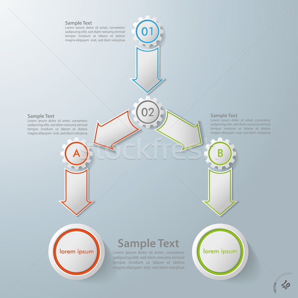 Industry Flowchart Infographic With Gears Stock photo © limbi007