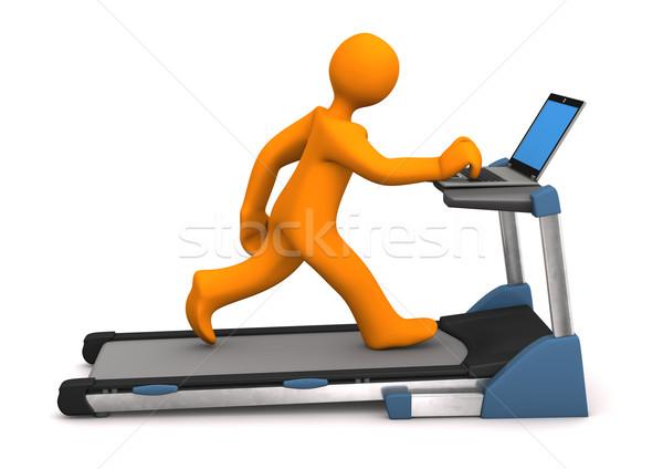 работу бегущая дорожка оранжевый ноутбука белый Сток-фото © limbi007