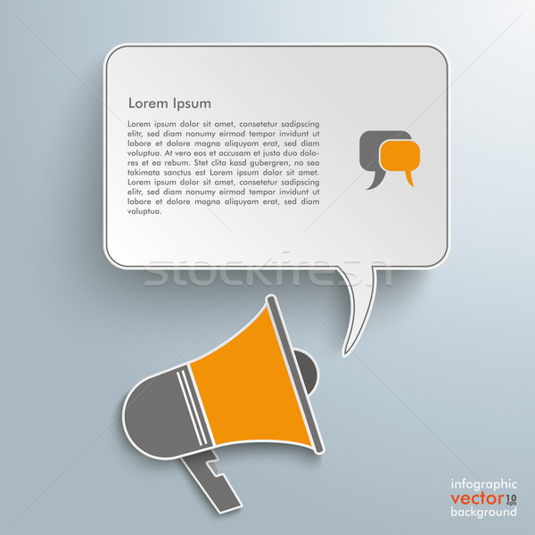 Bullhorn Speech Bubble Stock photo © limbi007