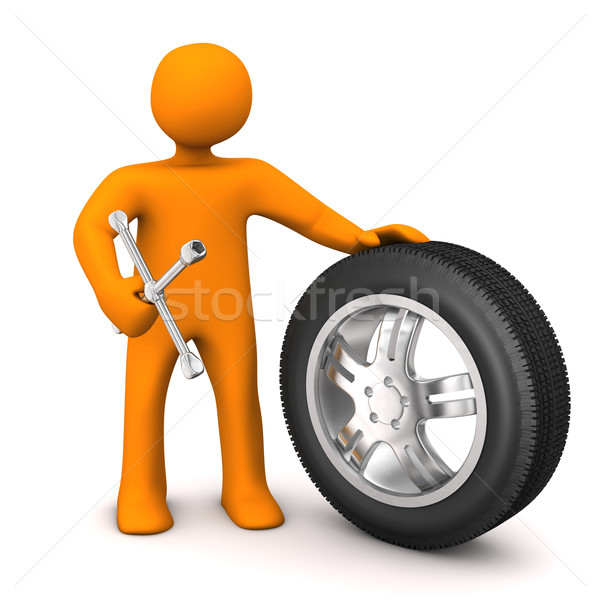 Manikin Change Of Tires Stock photo © limbi007