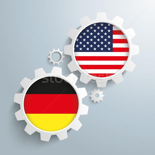 USA Germany Partnership Gears Stock photo © limbi007