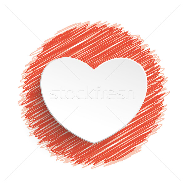 Heart Red Scribble Stock photo © limbi007