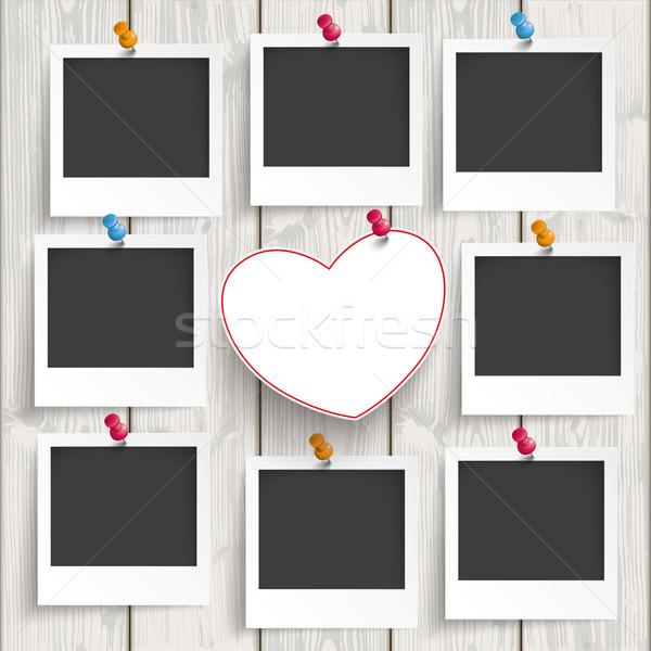 Immediato foto fotogrammi cuori legno cuore Foto d'archivio © limbi007