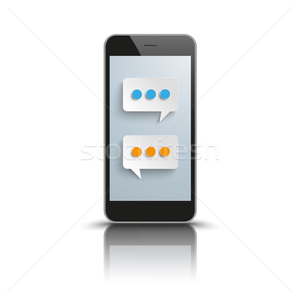 Smartphone Speech Bubbles Messenger Stock photo © limbi007