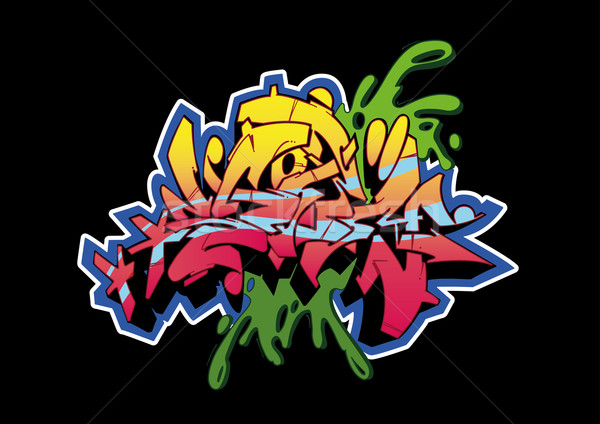 Graffiti Black Storm Stock photo © limbi007