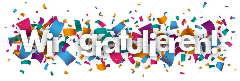 Wir Gratulieren Confetti SH Stock photo © limbi007