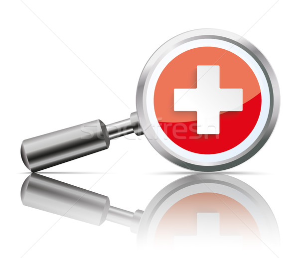 Loupe Mirror Health Hospital Stock photo © limbi007