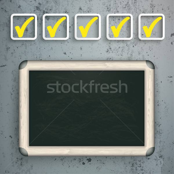 Checklist Blackboard Concrete Stock photo © limbi007
