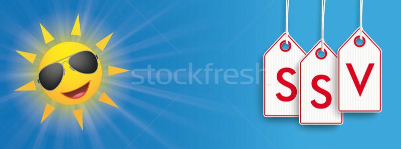 Sun Sunglasses Price Stickers SSV Header Stock photo © limbi007