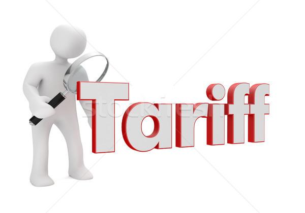 Manikin Loupe Tariff Stock photo © limbi007