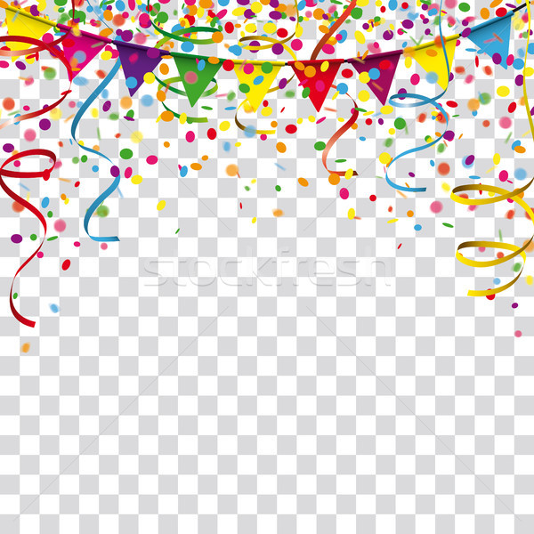 Carnival Confetti Ribbons FestoonTransparent Stock photo © limbi007
