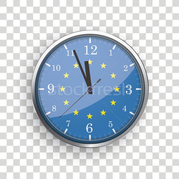 Reloj ue bandera transparente eps 10 Foto stock © limbi007
