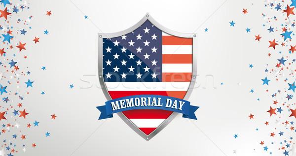 Memorial Day Protection Shield Side Stars Header Stock photo © limbi007