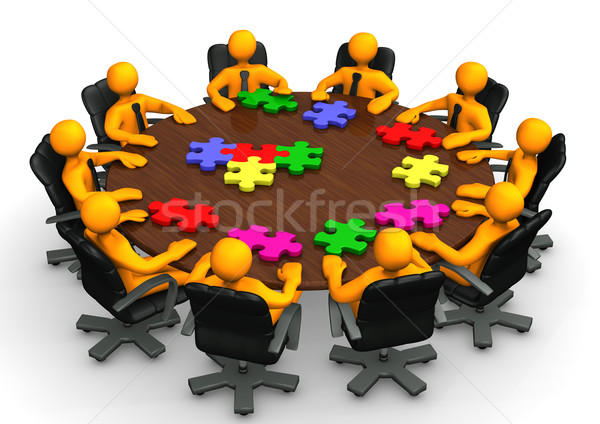 Conference Table Teamwork Stock photo © limbi007