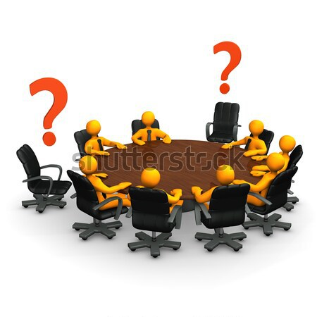 Conference Table Question Mark Stock photo © limbi007