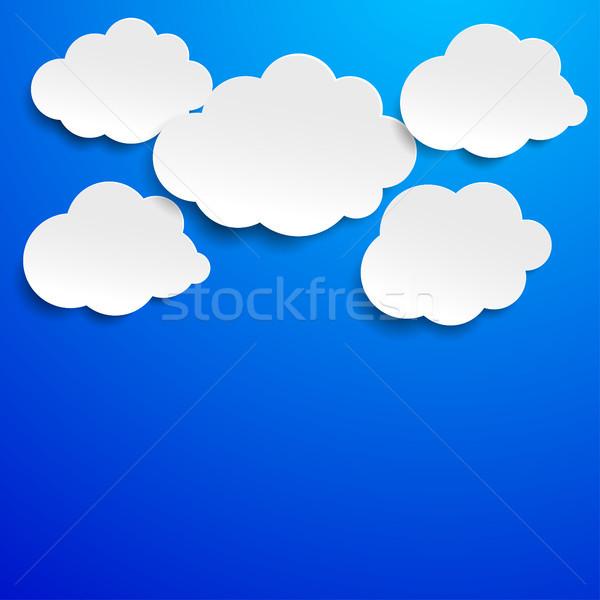Cloudscape Blue Sky Label Stock photo © limbi007