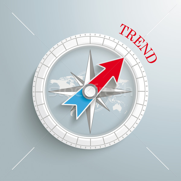 Stock photo: Compass Silver Background Trend