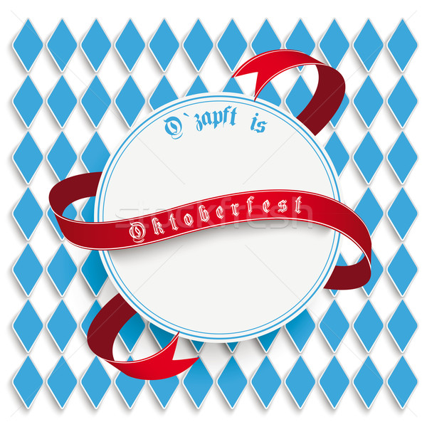 Munich Oktoberfest White Round Emblem Stock photo © limbi007