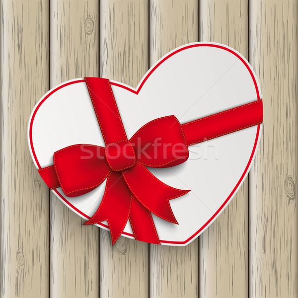 белый сердце древесины бумаги Сток-фото © limbi007