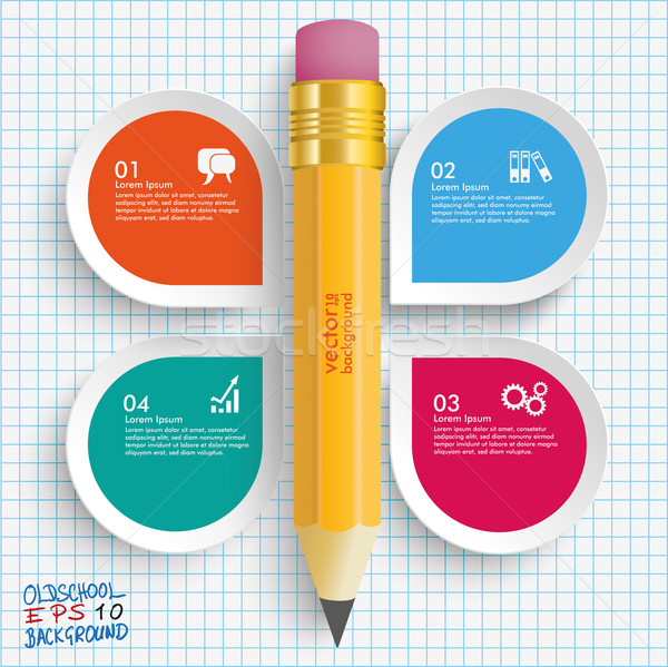 Pencil 4 Options Checked Paper Stock photo © limbi007
