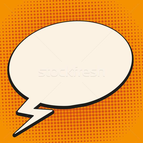 Comic Sprechblase Flash Retro Halbton eps Stock foto © limbi007