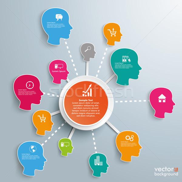 Infografica di successo design grigio eps Foto d'archivio © limbi007