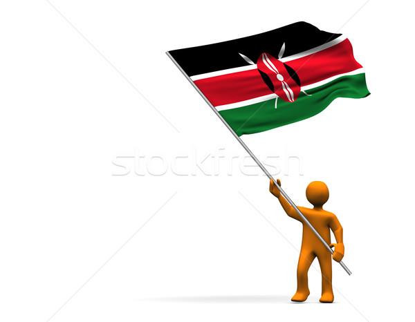 ファン ケニア オレンジ 漫画 ビッグ フラグ ストックフォト © limbi007