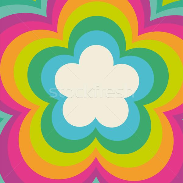Arco-íris flower power cobrir projeto eps 10 Foto stock © limbi007