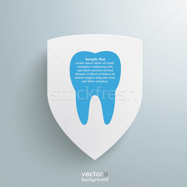 White Protection Shield Blue Tooth Stock photo © limbi007