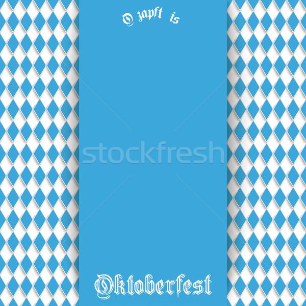 Bavarian Oktoberfest Flyer Blue Centre Stock photo © limbi007