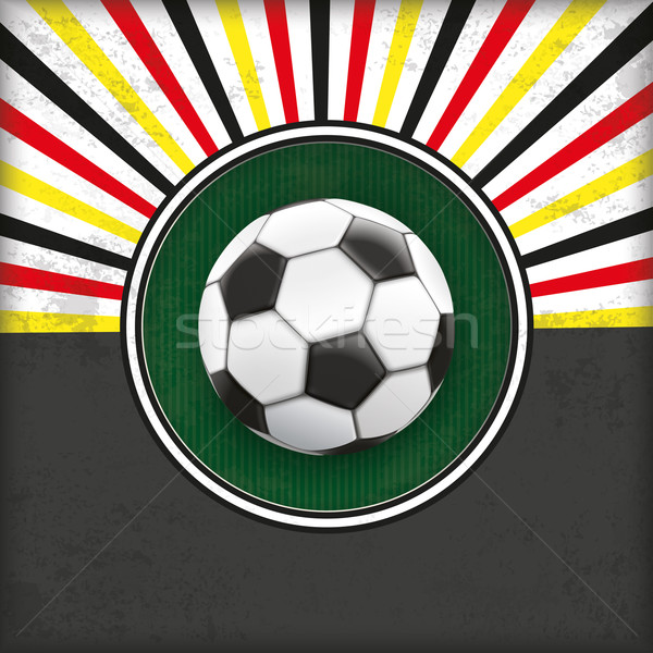 Retro Sun Cover Green Hole Germany Football Stock photo © limbi007