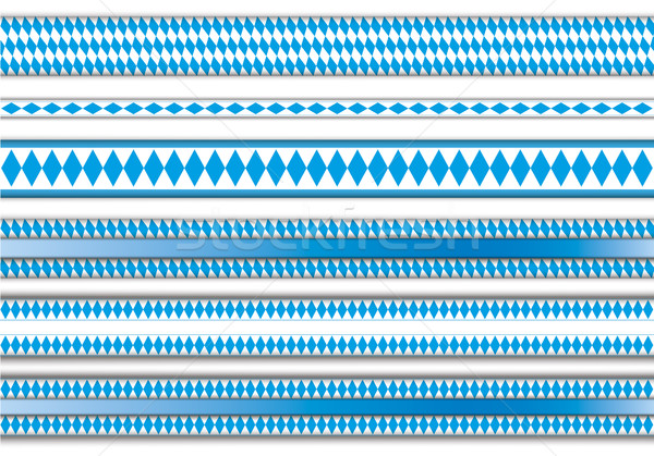 Oktoberfest Emblem Ribbon Foliage Bavarian Header SH Stock photo © limbi007
