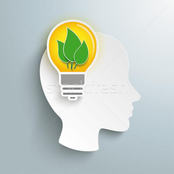 Humanismo cabeça cérebro eco Foto stock © limbi007