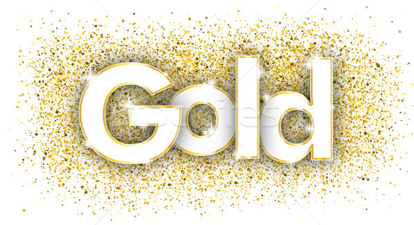 Gold Golden Confetti Stock photo © limbi007