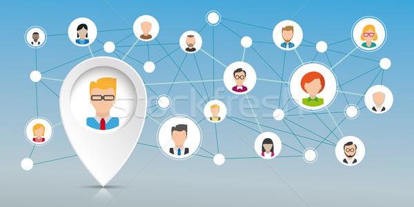 Pointer Businessman Social Network Stock photo © limbi007