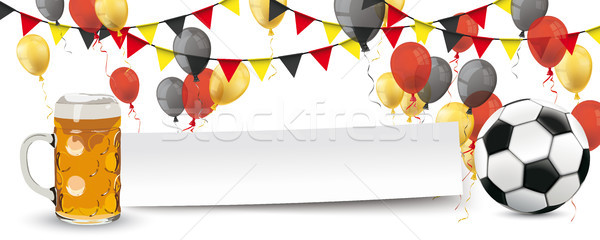 Paper Banner Buntings Balloons Germany Football Beer Mug Stock photo © limbi007