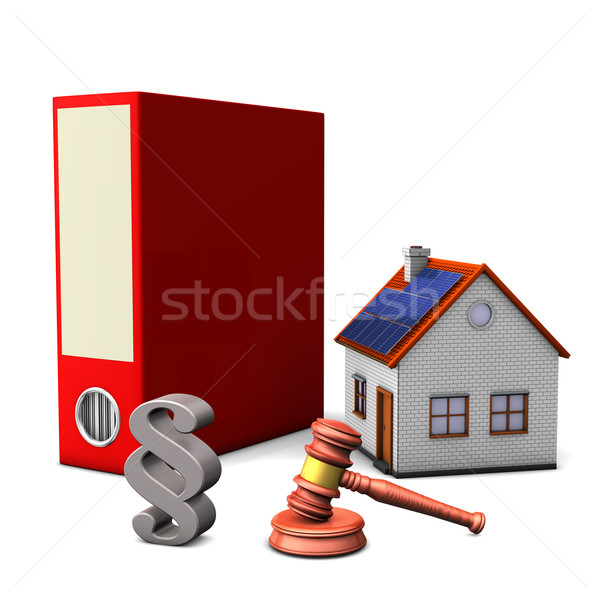 Folder House Paragraph Stock photo © limbi007