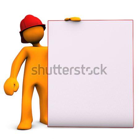Nota oranje groot muziek Stockfoto © limbi007