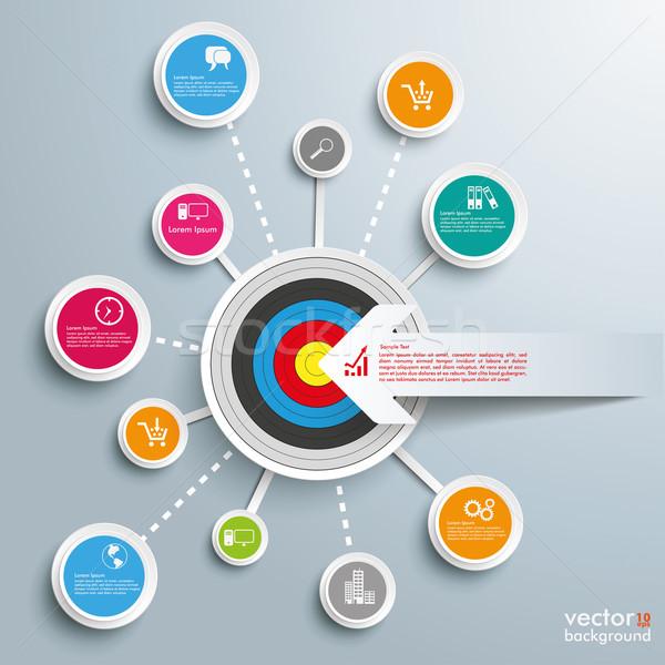 Sikeres hálózatok cél nyíl infografika terv Stock fotó © limbi007
