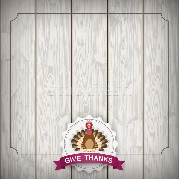Autumn Vintage Emblem Thanksgiving Turkey Stock photo © limbi007
