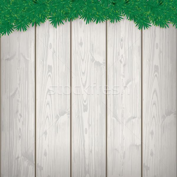 Christmas Card Wooden Laths Twigs Stock photo © limbi007