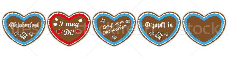 Oktoberfest Header Hearts Set SH Stock photo © limbi007